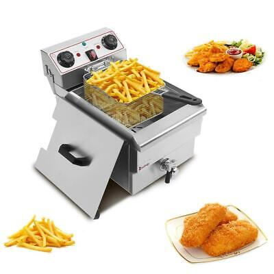 Zokop 12.5qt Commercial Electric Deep Fryer French Fry Restaurant Tank Basket