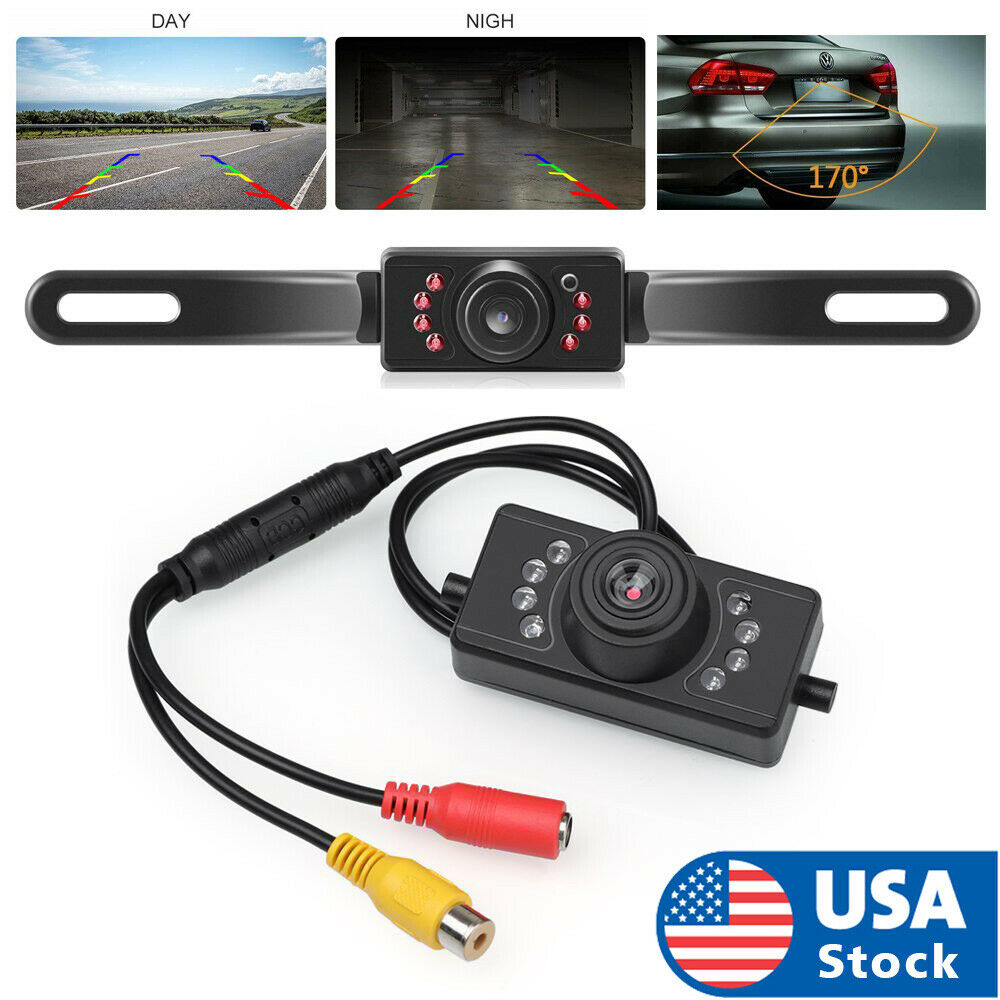 License Plate Car Rear View Backup Camera Parking Reverse Camera Night Vision Car Video