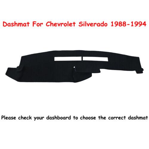Dash Mat Dashboard Cover For 1988-1994 Chevrolet Silverado Truck Smoky Grey