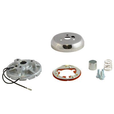 3-Hole Steering Wheel Polished Hub Adapter for Ford Trucks/Vans/Bronco 69-91