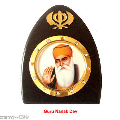 Guru Nank Dev Idol God Statue Wooden Car Dashboard Hindu Sikh Religius Gurunanak