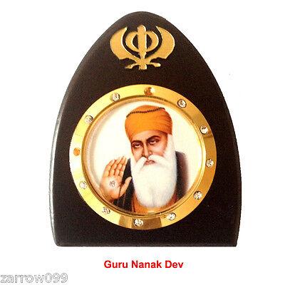 Guru Nank Dev Idol God Statue Wooden Car Dashboard Hindu Sikh Religius Gurunanak