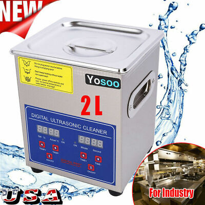 2l Stainless Steel Digital Ultrasonic Cleaner Machine With Timer Heated Cleaning