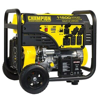 Champion 100110 - 9200 Watt Electric Start Portable Generator Carb