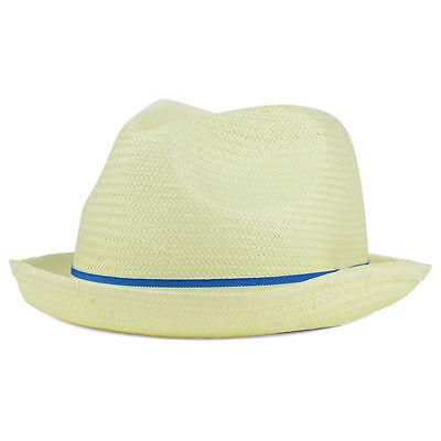 Peter Grimm Beeskow Straw Fedora Men's Hat Cap True Character Ivory 100% Paper (Peter Grimm Fedora)