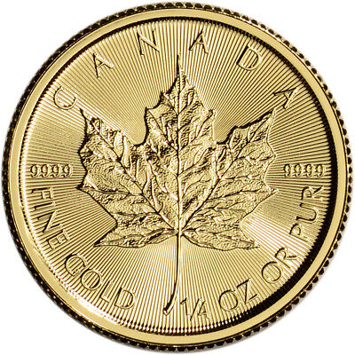 Canada Gold Maple Leaf - 1/4 oz - $10 - BU - .9999 Fine - Random Date