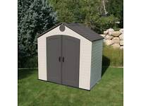 8x5 heavy duty plastic shed
