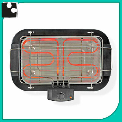 Barbacoa Eléctrico Portátil Placa Cuadrícula de Acero Parrilla 2000w