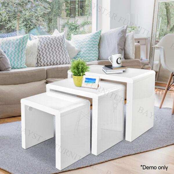 space saving furniture melbourne. Glossy White Space Saving Nesting Tables | Coffee Gumtree Australia Melbourne City - CBD 1179031445 Furniture