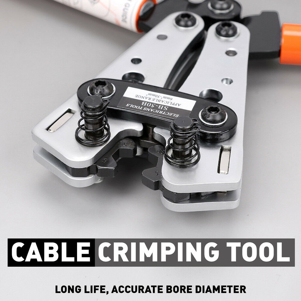 NEW CABLE LUG CRIMPING TOOLS HAND ELECTRICIAN PLIERS CRIMPER WIRE CABLE 6-50MM² 10-0