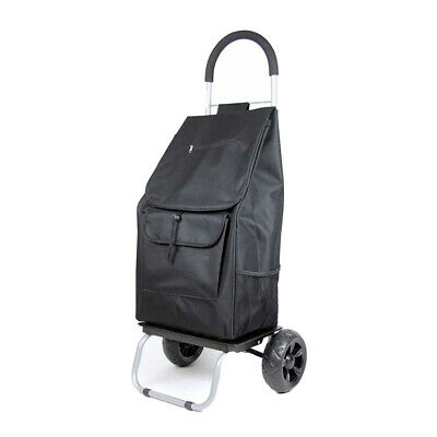 Dbest Products Portable Folding Trolley Dolly Wagon Cart Black Open Box