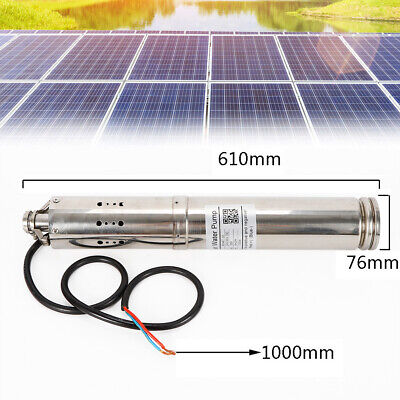 Farm Ranch Solar Powered Water Pump Irrigation Submersible Borehole Deep Well Us