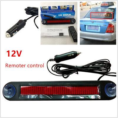 12v Car Led Programmable Message Sign Scrolling Display Board Remote Control Kit
