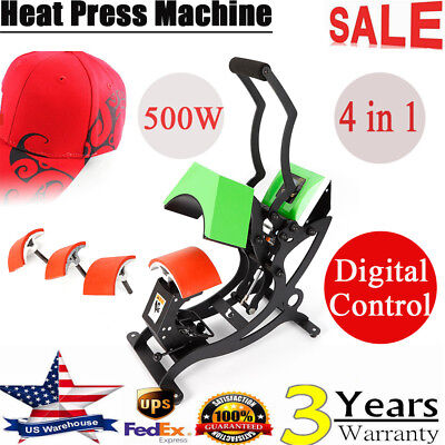 New Style 4 In 1 Hat Cap Heat Sublimation Transfer Press Digital Machine Usa