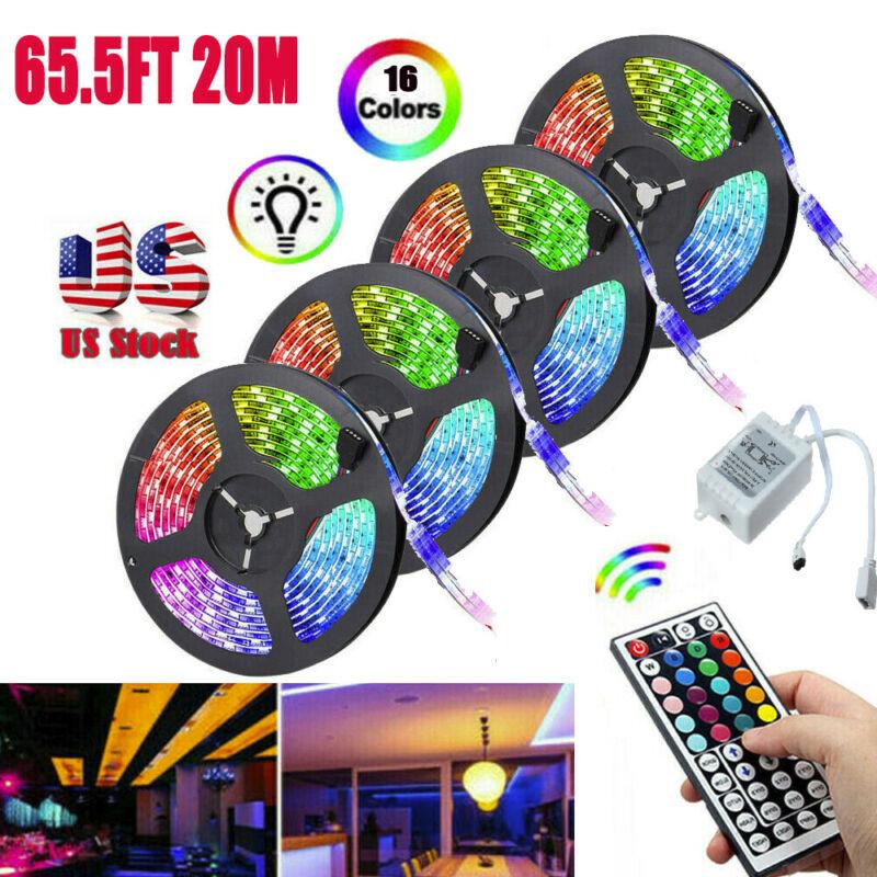 32ft 65ft RGB Flexible 600 LED Strip Light 3528 SMD Fairy Li