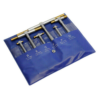Telescoping T-bore Hole Precision Gauge Set 6 Pcs 5-116 To 6 Inch Tin Coated