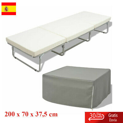Cama/taburete Modelo Plegable con Colchón Incluido Marco Acero Estable 200x70 cm