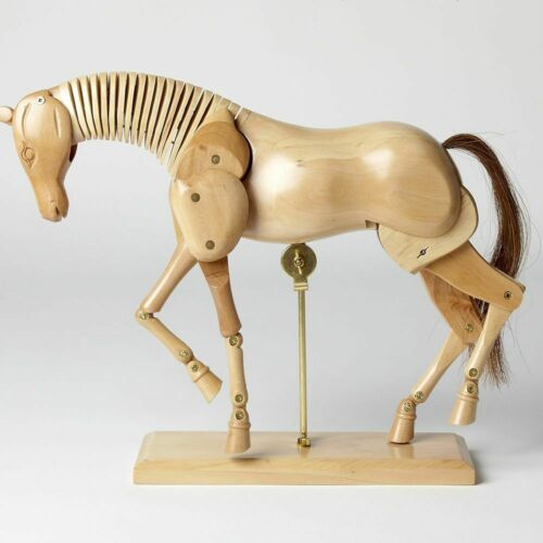 30cm WOODEN ANATOMICAL HORSE FIGURE - RRP £69.99