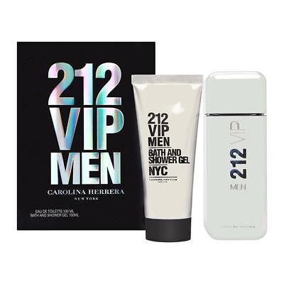 212 VIP Men by Carolina Herrera 2 PC Set 3.4 oz EDT Spray + 3.4 oz Shower Gel