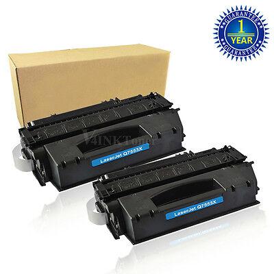 2PK Q7553X Toner Cartridge For HP 53X LaserJet P2014 P2015 P2015DN P2015X New