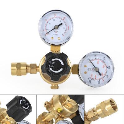 Cga580 Argon Co2 Gas Mig Tig Flow Meter Regulator Pressure Control Gauge Welder