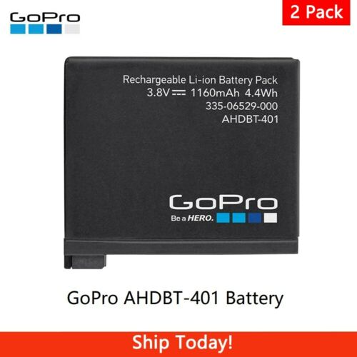 2 Pack GoPro AHDBT-401 Rechargeable Battery for GoPro HERO4 Black, HERO4 Silver