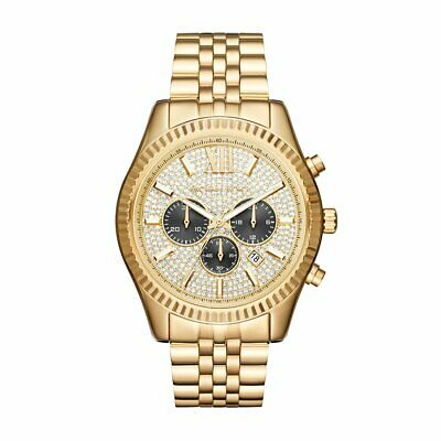 MICHAEL KORS MK8494 Lexington Gold Tone Chronograph Men's Watch
