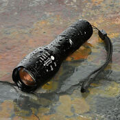 10000Lumens Zoomable Tactical Military LED 18650 Flashlight Torch Lamp Light