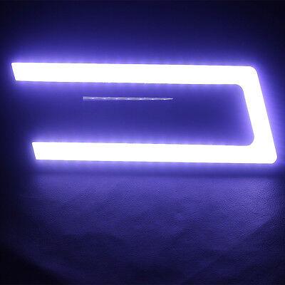 2x White U Type Shape LED COB Car DRL Daytime Running Fog Day Light Lamp Bulbs