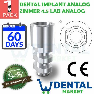 X 1 New Dental Implant Analog Zimmer 4.5 Lab Analog
