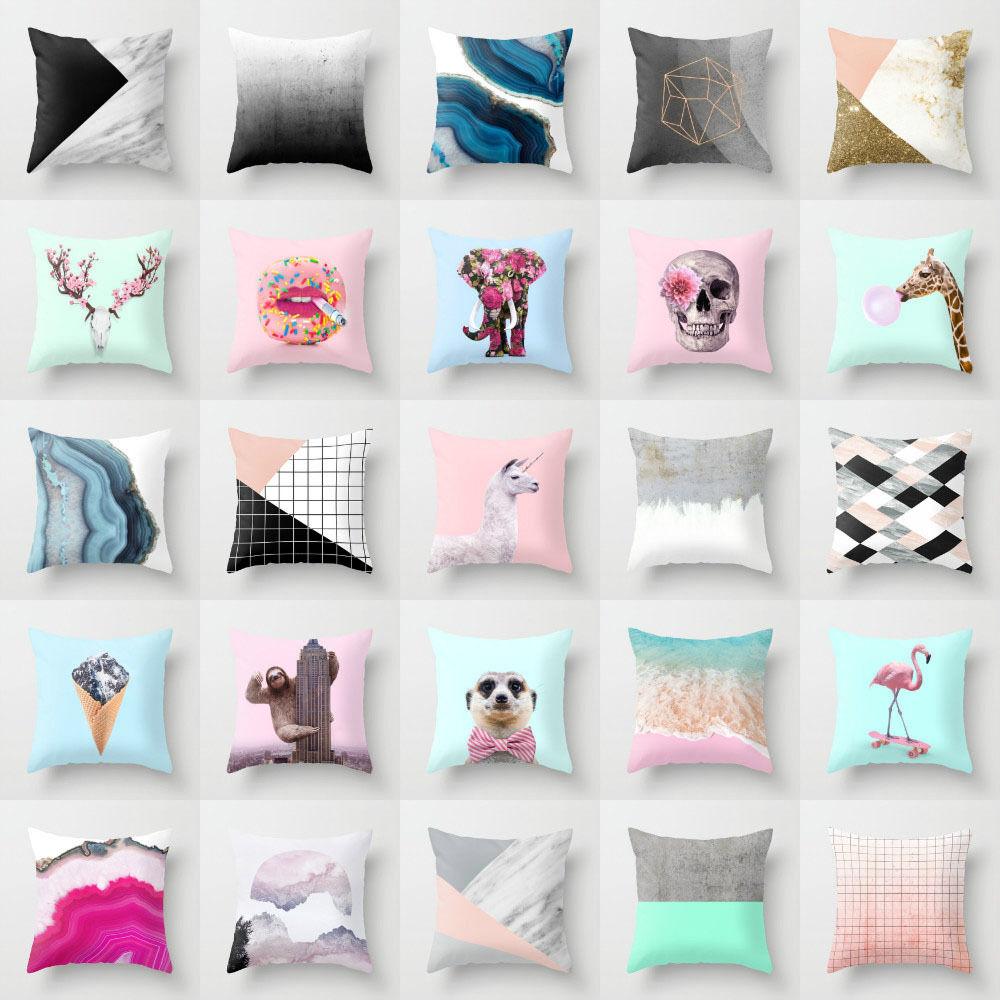 Polyester Cojines throw pillows case sofa official cushion c