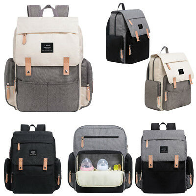 Backpack Insulated Bag - Genuine LAND Large Mummy Maternity Baby Diaper Bag Backpack insulated pockets