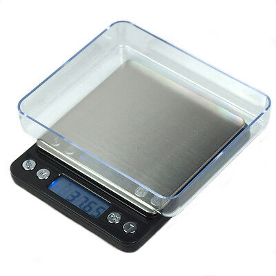 2000g x 0.1g Digital Scale Precision Scale for Jewelry Diet Shipping-Black
