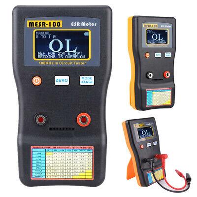 Mesr-100 Esr Capacitance Ohm Meter Measuring Tool Capacitor Circuit Tester