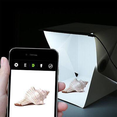Mini Photo Studio Box Portable Foldable Photography Box With Built In Light Whit