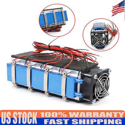 12v Thermoelectric Peltier Refrigeration Cooling System Kit Cooler Fan Diy 576w