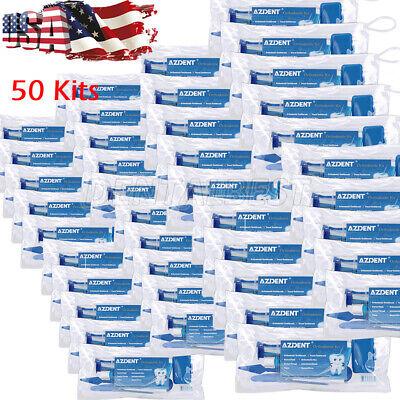 50 X Dental Floss Orthodontic Toothbrush Bracket Ligature Ties Cleaning Kit Blue