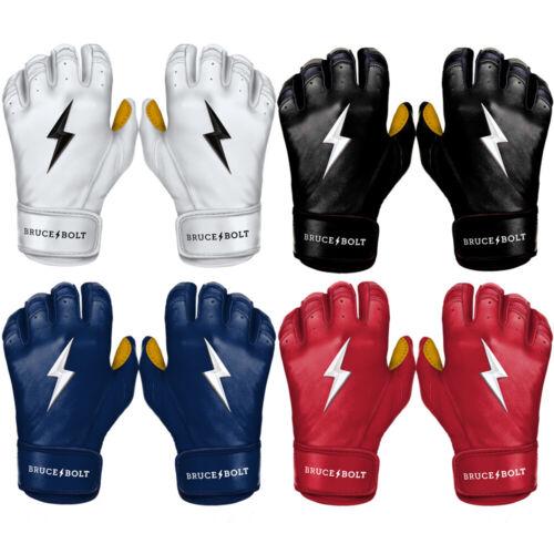 Bruce Bolt Pro Premium Baseball Short Cuff Rip Resistant Batting Gloves