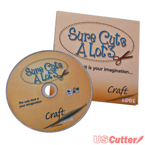 Sure Cuts A Lot V3 - Design & Cut Vinyl Cutter Software Signs Graphics Craft NEW