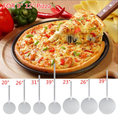"9"" 12"" Aluminium Pizza Spatula Peel Shovel Cake Lifter Plate"