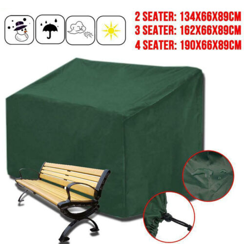 2/3/4 Seater Heavy Duty Waterproof Bench Seat Cover Garden Furniture Protector