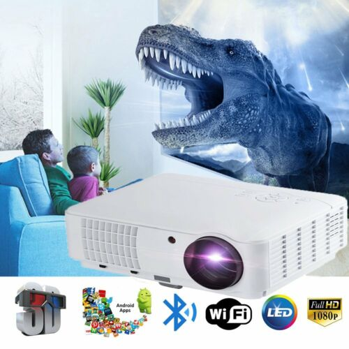 50000Hours 1080P Full HD LED Projector Home Theater Cinema HDMI VGA USB SD AV TV