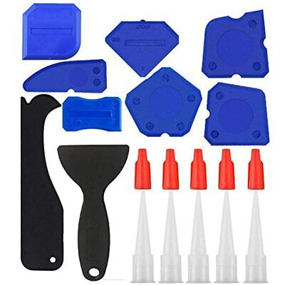 SYBF 19 Piece Caulking Tool Kit, Grout Scraper Remover Nozzle And Caps Silicone