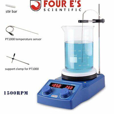 110v Magnetic Stirrer Hot Plate Dual Controls Heating Stirring Holder Laboratory
