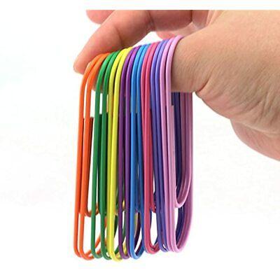 Ruiling 40-pack Inches Mega Large Paper Clips 8 Colors Per 5pcs 100mm Cute
