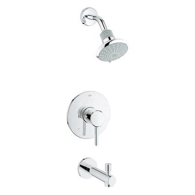 GROHE Concetto Single-Handle Tub and Shower FaucetSetin StarLight Chrome  (Grohe Concetto Starlight)