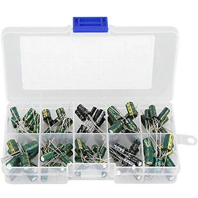 100pcs Diy High Grade Audio Capacitor Assorted Electrolytic Capacitors Kit Home
