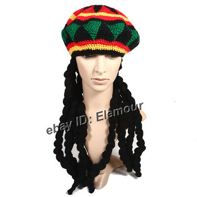Rasta Dreadlocks Wig Hat Bob Marley Reggae Rasta Dreads Hat Costume (Dreadlocks Costume)