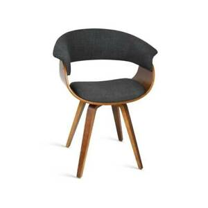 ALLYN - TIMBER, WOOD, FABRIC, GREY, DINING CHAIR