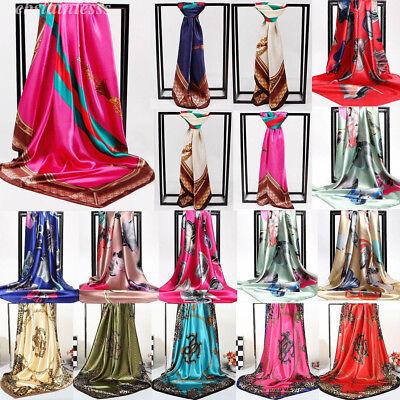 Womens Printed Satin-Silk Scarf Silk Headband Neck Square Wrap Lot Scarf Shawl